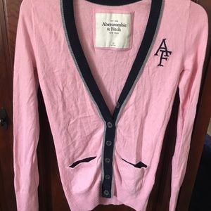 AF pink varsity sweater